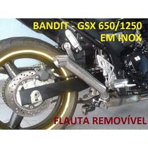 Ponteira Megafone Inox Bandit/gsx 650/1250 Flauta Removivel