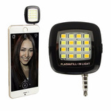 Selfie Flash Externo Y Lámpara Led Para Android, Iphone, Ipa