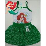 Vestido Pequena Sereia Ariel - Roupa/ Fantasia Temática