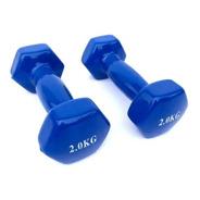 Mancuernas Vinilo 2 Kg / 4 Kg Total Fitness  Mejor Precio
