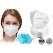 Kit 10 Máscara Respiratória Proteção Kn95 Fda Anvisa