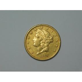 Moneda Estados Unidos Oro Peso 33,44 G. Año 1889
