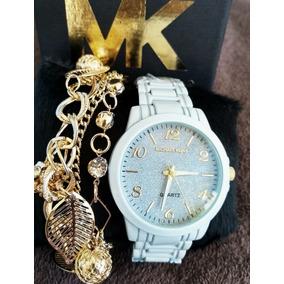 Kit C/ 5 Relógios Feminino + Pulseiras Atacado