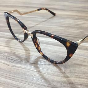 Armação Oculos De Grau Feminino Fend Orchidea Strass + Case 92c4f79bfd