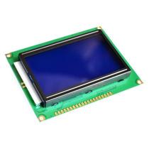 Display Gráfico Lcd 128x64 Azul Pic Arduino E Barra De Pinos