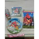 Kit Manteleria+ Platos+ Vasos Y+ Angry Birds Fiesta Infantil