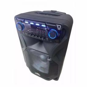 Caixa De Som Sumay Amplificada Portátil 400w Thunder Black