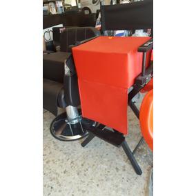 Asiento Infantil Barbería Estetica Disponible Negro Café Roj