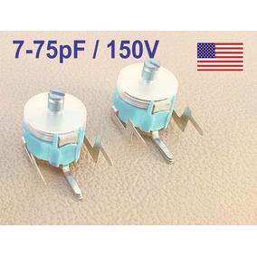 4x Capacitor Variável Trimmer 7-75pf 7 75pf 150v Frete 12,00