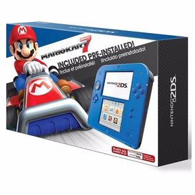 Nintendo Portatil Video Game 2ds Azul +mario Kart 7 Original