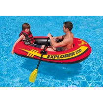 Bote Inflable Con 2 Remos