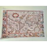 Mapamundi Antiguo Sepia Celeste Pol O Do Didacticworld®