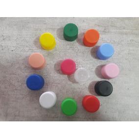 Tapas Plasticas De Colores Pack 100 Unidades
