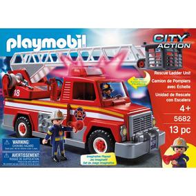 Camion De Bomberos Con Escalera Playmobil Envío Gratis