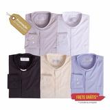 Kit 5 Camisas De Padre Manga Longa Tecido Nobre - Clerical
