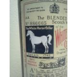 Antigua Botella De Whisky White Horse N° Serie Aa 886665