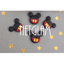10 Apliques Mickey Y Minnie Disney Porcelana Fria