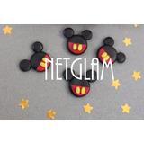 10 Apliques Mickey Y Minnie Disney Porcelana Fria