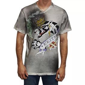 Camiseta Tshirt Ed Hardy Masculina Christian Audigier Cinza