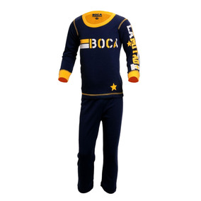 Pijama Estampado Niños Boca Juniors