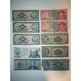 Colección De 10 Billetes Antiguos De México 10, 20, 50 Pesos