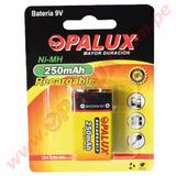 Opalux - Batería Recargable De 9v Ni-mh 250mah