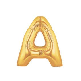Balão Metalizado Letras Numeros Dourado 45 Cm