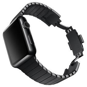 Pulseira Preto Aço Inox Apple Watch 42mm Série 1 2