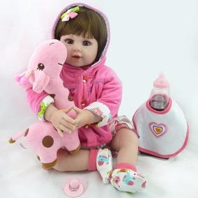 Bebe Reborn Boneca Silicone Baby Menina Realista Alive Promo