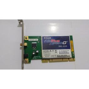 Placa De Rede Pci Wireless P/ Desktop D-link Dwl-g520 Wi-fi