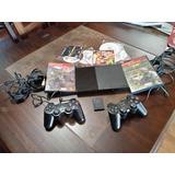 Playstation 2 Des + 2 Controles + Memoria 8mb + Juegos O Y P