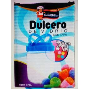 30 Dulceros De Vidrio Con Tapa De Colores Para Tus Fiestas