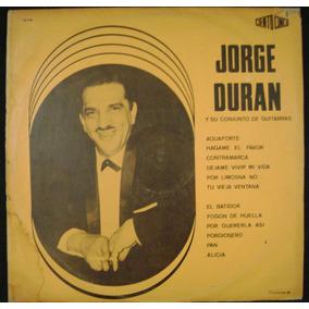 Jorge Duran Y Su Conjunto De Guitarras- Lp Vinilo-8 Puntos