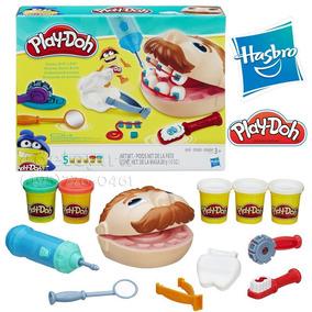 Kit Massinha Play-doh De Modelar Dentista Jogo B5520 Hasbro