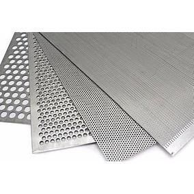 Info Laminas Perforadas Acero Inoxidable, Negro Y Aluminio