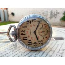 Reloj De Bolsillo Steelco Niquelado Antiguo Cuerda Coleccion