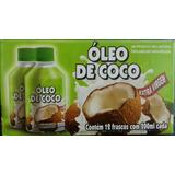 24 Unidades Óleo De Coco Extra Virgem 100% Natural 200 Ml