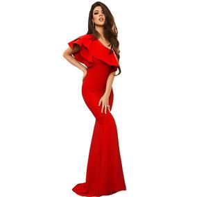 Vestido Fiesta Corte Sirena Rojo Envio Gratis