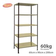 Estanteria Metalica 90x60x200 Tisera Oficina 60 Kg 209060