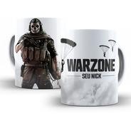 Caneca Cod Warzone Com Nome Personalizado