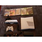 Xbox Slim Blanco 4gb Kinect Y 5 Juegos Originales