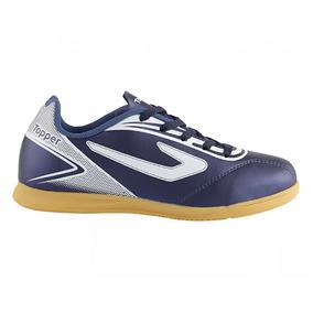 Chuteira Futsal - Chuteiras Topper de Futsal Azul marinho no Mercado ... 9ef7f4ab9a3fe