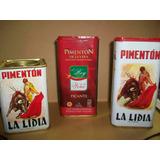 Latas Vacías De Pimentón Español Precio Por Las Tres