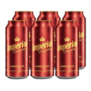 Imperial Amber Lager . Cerveza . 473ml X 6 - Tomate Algo® -