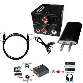 Adaptador Digital Rca +usb + Cabo Optico + Saida Fone P2 !