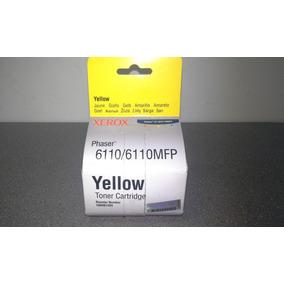 Toner Amarillo Xerox Phaser 6110 Codigo: 106r01204