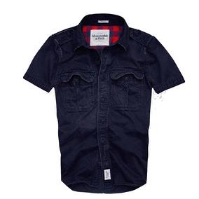 Camisa Hollister Abercrombie Social Manga Curta Jeans