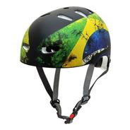 Capacete Kraft Bike/skate Rapel Voo Brasil Flag