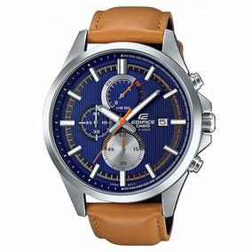 Relógio Casio Edifice Masculino Couro - Efv-520l-2avudf