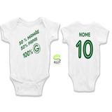 Body Infantil 100% Goiás Personalizado Bebê Fg